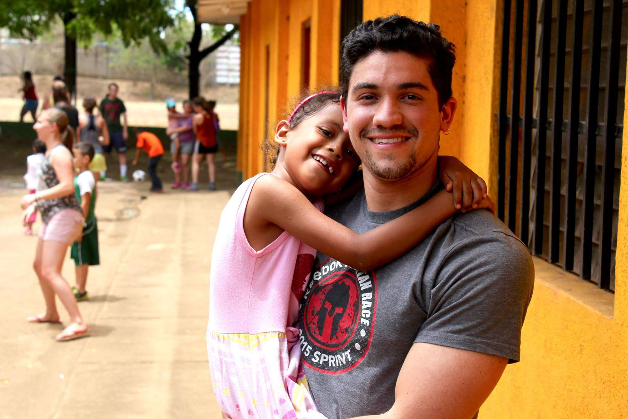 Student on a Mission Trip with Girl